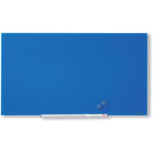 Nobo Diamond Glass Magnetic Whiteboard 677x381mm Blue