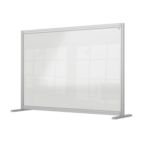 Nobo Premium Plus Clear Acrylic Protective Desk Divider Screen Modular System 1400x1000mm