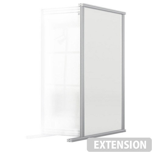 Nobo Premium Plus Clear Acrylic Protective Desk Divider Screen Modular System Extension 400x1000mm