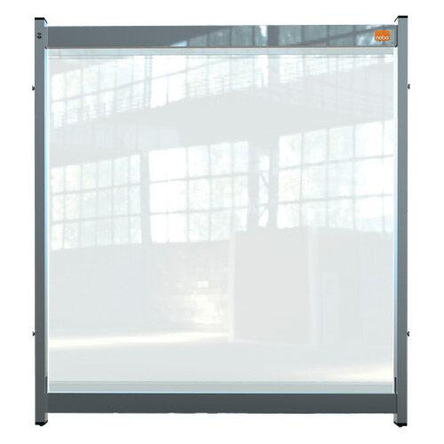 Nobo Premium Plus Clear PVC Modular Desk Divider Screen System 750x820mm