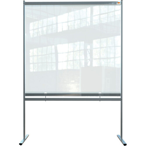 Nobo Premium Plus Clear PVC Free Standing Protective Screen Divider 1480x2060mm
