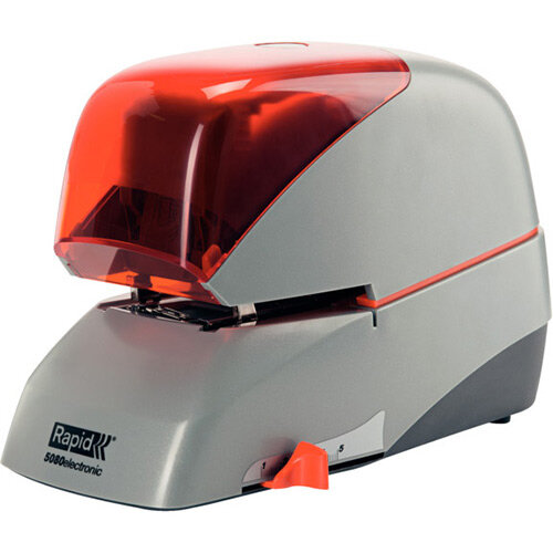 Rapid Supreme Electric Stapler R5080e Silver &Orange