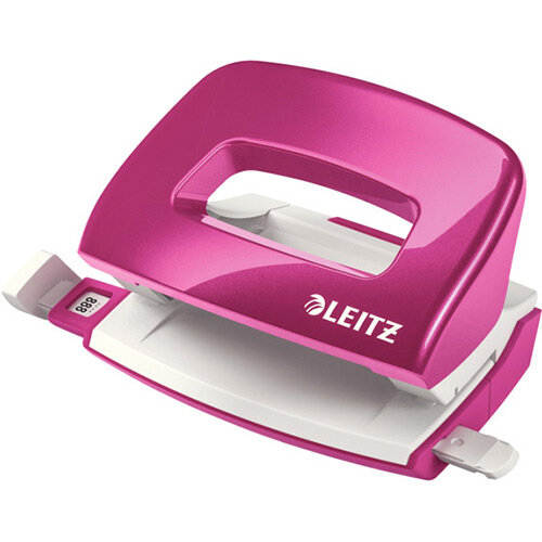Leitz New NeXXt WOW Mini Hole Punch Metallic Pink