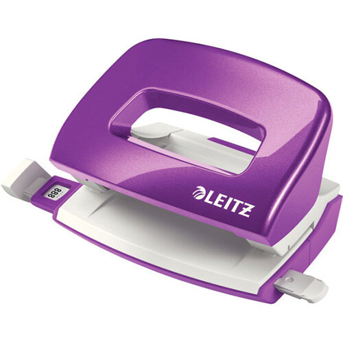 Leitz New NeXXt WOW Mini Hole Punch 10 Sheet Capacity Purple