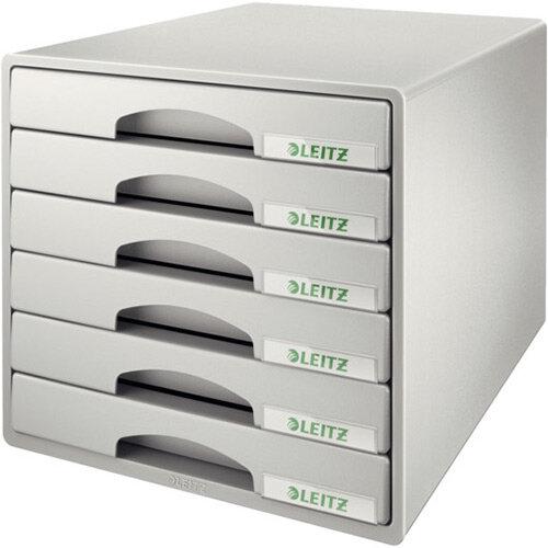 Leitz Plus 6 Drawer Cabinet Grey