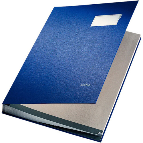 Leitz Signature Book PP Coated With 20 Rigid Card Dividers Blue