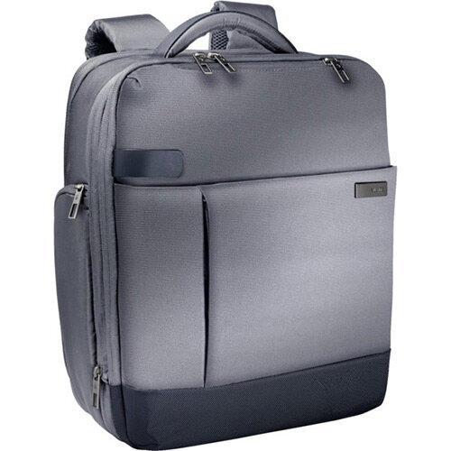 Leitz Complete 15.6in Laptop Backpack Smart Traveller Silver