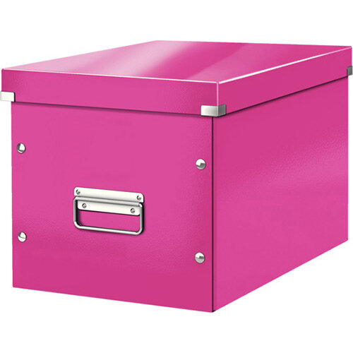 Leitz Box Click &Store Cube Large Storage Box Pink