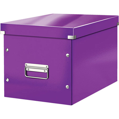 Leitz Box Click &Store Cube Large Storage Box Purple
