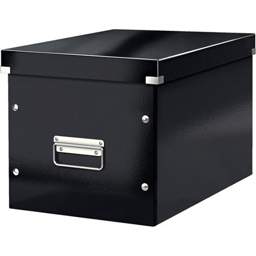 Leitz Box Click &Store Cube Large Storage Box Black