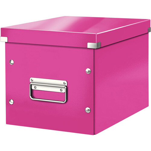 Leitz Box Click &Store Cube Medium Storage Box Pink