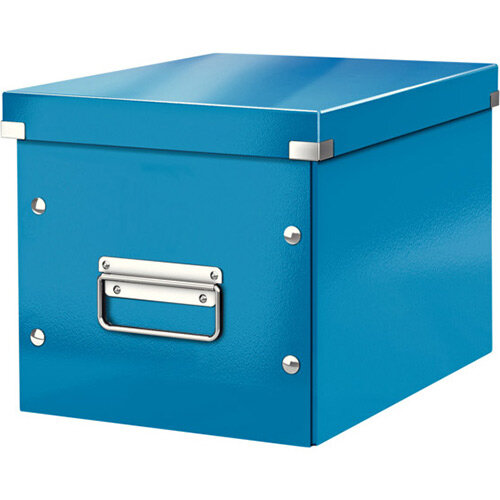 Leitz Box Click &Store Cube Medium Storage Box Blue
