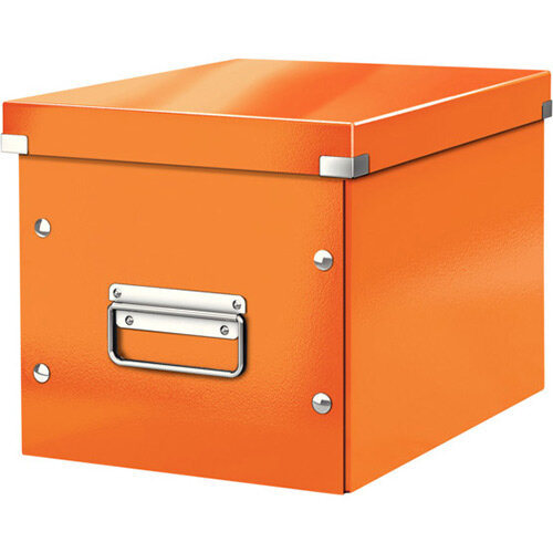 Leitz Box Click &Store Cube Medium Storage Box Orange