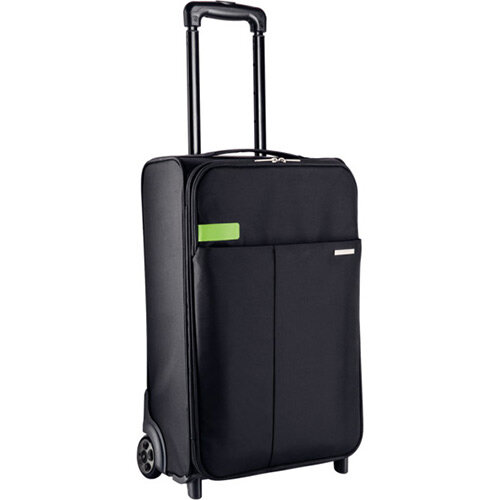 Leitz Complete 2-wheel Hand Luggage Trolley Smart Traveller Black