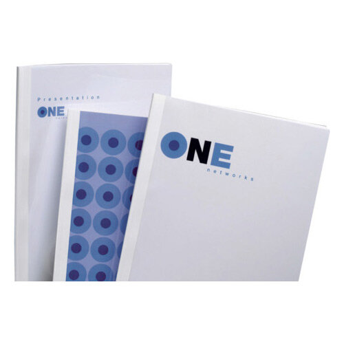 GBC Optimal Thermal Binding Covers A4 9mm White Pack of 100