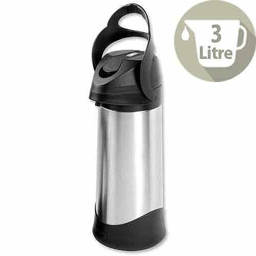 Vacuum Pump Jug 3 Litres Stainless Steel Dishwasher Safe