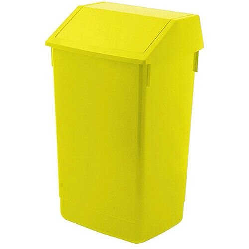 Addis 60 Litre Flip Top Waste Bin Yellow Finish (Pack of 1) AG813423