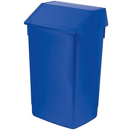 Addis 60 Litre Flip Top Waste Bin Blue Finish (Pack of 1) AG813424