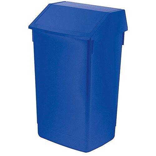 Addis 60 Litre Flip Top Waste Bin Blue Finish (Pack of 1) AG813424