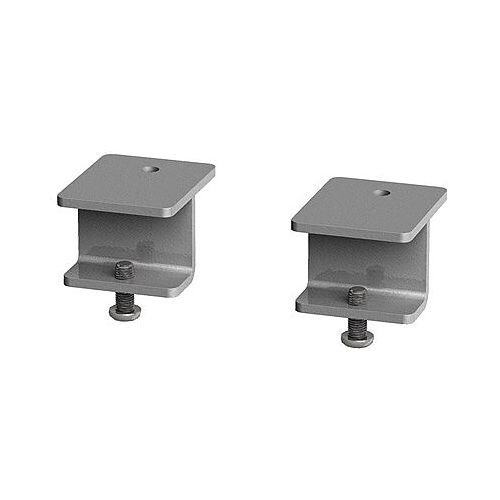Glazed Screen Brackets For Single Adapt And Fuze Desks Or Runs Of Single Desks (Pair) - Silver