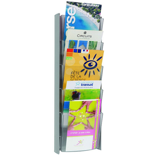 Alba A5 Sized Wall Display Unit 5 Pocket Literature Holder. Ideal For Use In Offices, Reception Areas &Much More.