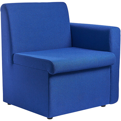 Alto modular reception seating with left hand arm - blue