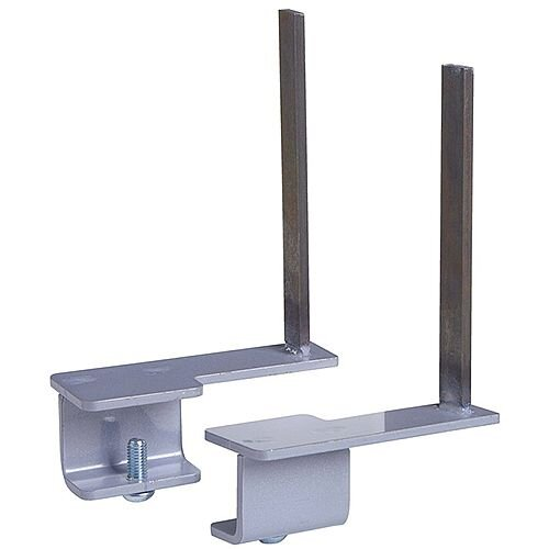 Aluminium Framed Screen Brackets (Pair) To Fit On Back Of Desk - Black
