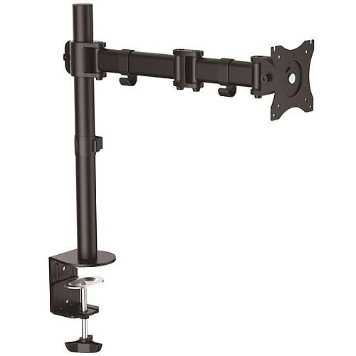 """StarTech.com Articulating Monitor Arm - Steel - Single Monitor Stand - Monitors up to 27"""" - VESA Mount - Adjustable Monitor Arm - 68.6 cm (27"""") Screen Support - 7.98 kg Load Capacity - Black"""