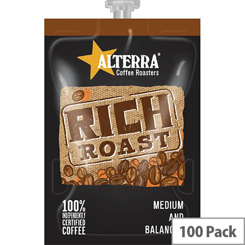 Flavia Alterra Rich Roast Sachets Pack of 100 NWT358