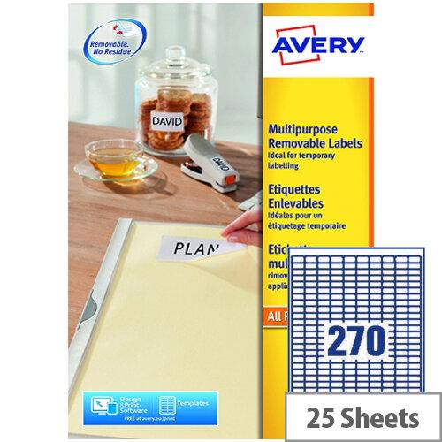 Avery L4730REV-25 Removable Laser Label (6750 Labels)