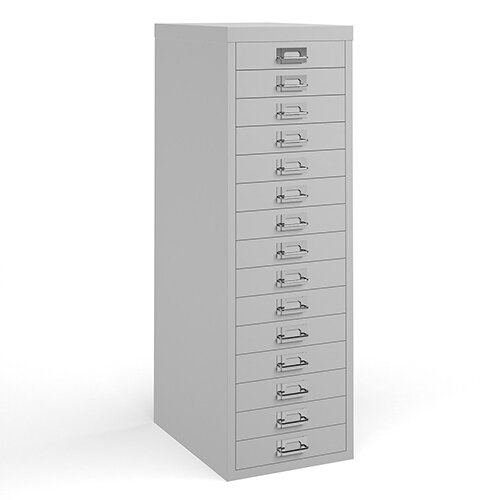 Bisley multi drawers with 15 drawers - white