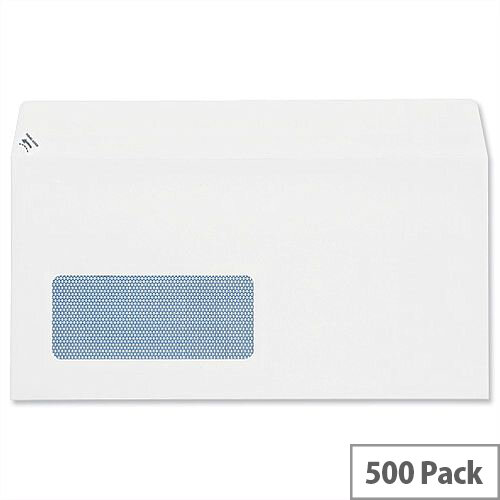 Plus Fabric DL Window Envelopes White Wallet Peel and Seal 110gsm Pack of 500