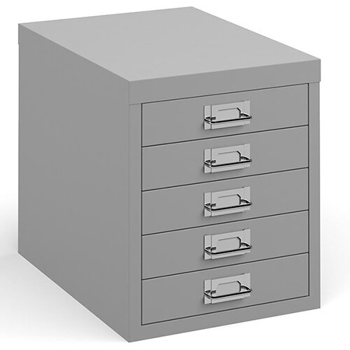Bisley multi drawers with 5 drawers - grey