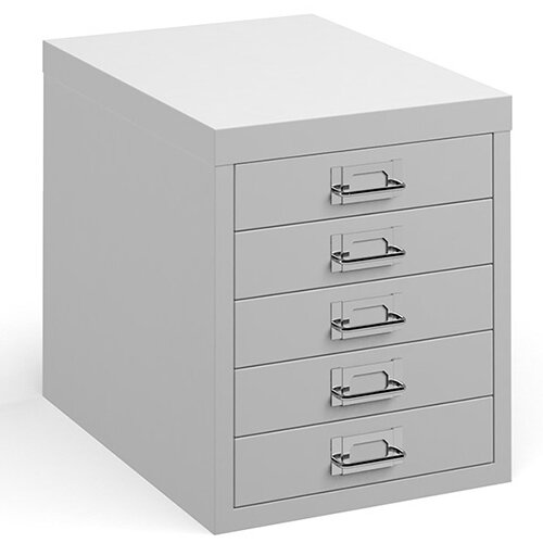 Bisley multi drawers with 5 drawers - white