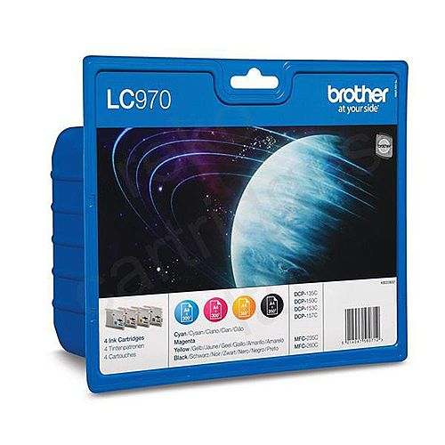 Brother LC970VALBP 4 Colour Value Pack Ink Cartridges