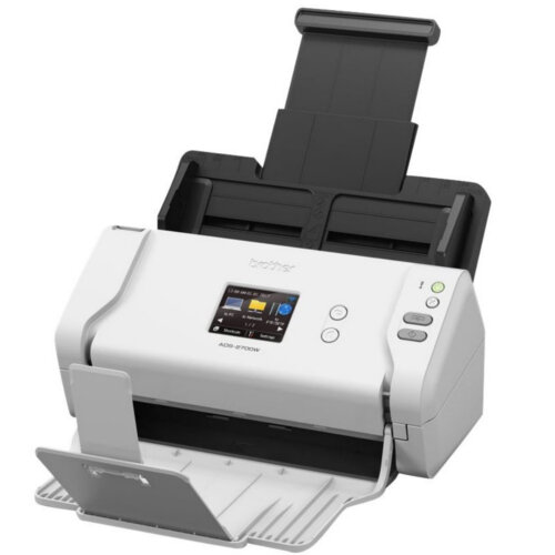 Brother ADS-2700W Wireless A4 High-Speed Desktop Document Scanner, Scan Speeds up To 35ppm, Touchscreen LCD, Duplex Scanning
