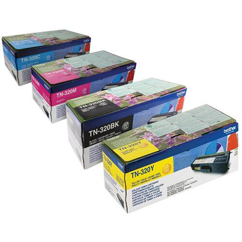 Brother TN320 Toner Cartridge Bundle Cyan/Magenta/Yellow/Black Pack of 4 BA810617