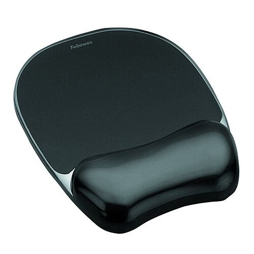 Fellowes Gel Mouse Pad with Wrist Rest Black