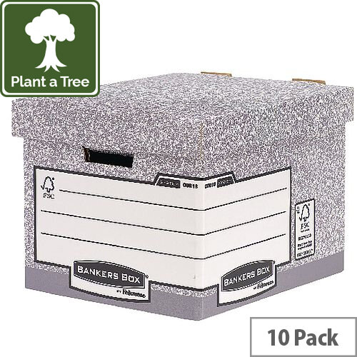 Fellowes Heavy Duty Bankers Box Standard Size W333 x D390 x H285mm Pack of 10 0081801