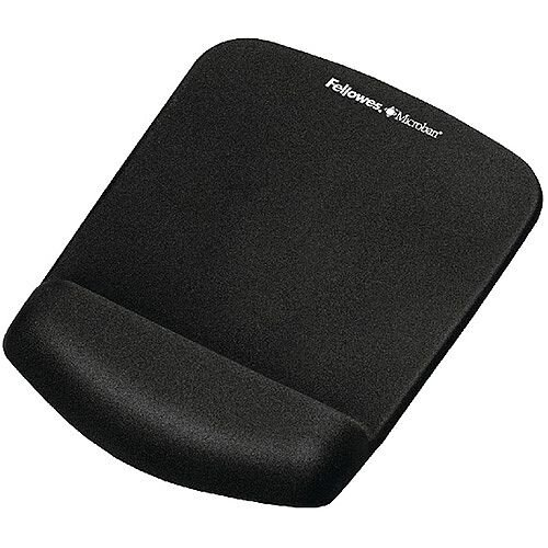 Fellowes Plushtouch Mousepad Wrist Support Black 9252003