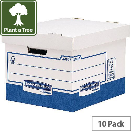 Fellowes Basics Standard Heavy Duty Storage Box W333 x D380 x H285 mm Pack of 10 BB72105