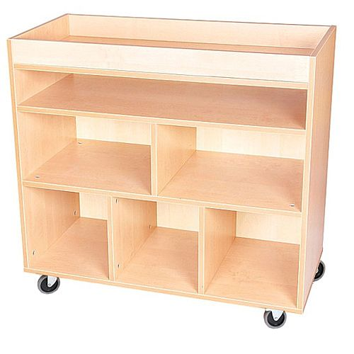 Arts And Crafts Cabinet with Castors Beech