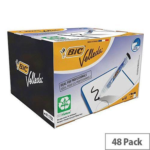 Bic Velleda 1701 Whiteboard Marker Bullet Tip Line Width 1.5mm Black Ref 927258 [Pack 48]