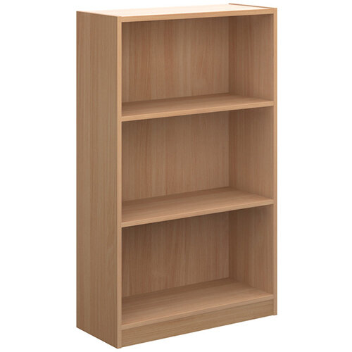 Economy bookcase 1236mm high with 2 shelves - beech
