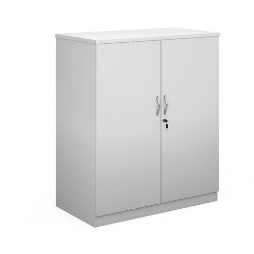 Deluxe Double Door Cupboard 1200Mm High With 2 Shelves - White