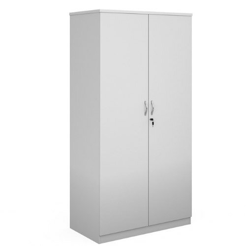 Deluxe Double Door Cupboard 2000Mm High With 4 Shelves - White