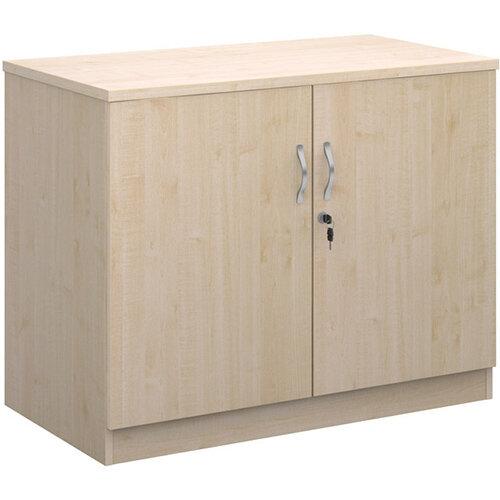 Deluxe double door cupboard 800mm high with 1 shelf - maple