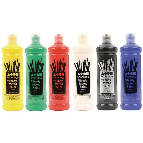 Brian Clegg Readymix Paint Assorted 6x600ml AR81A6