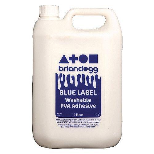 Brian Clegg PVA Glue Blue Label 5 Litre GL18