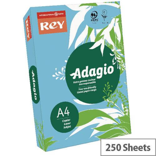 Adagio Bright Blue A4 Card Paper 160gsm Pack of 250